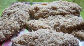 Hähnchen paniert mit Kokospanade