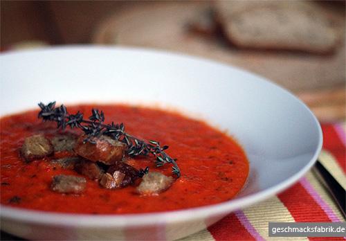 Paprika-Schalotten-Suppe
