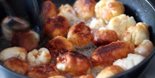 Pizza Poppers in heißem Öl frittieren